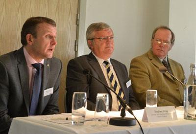 Stephern Wray, Ian Franklin and Norman Cavill on the panel
