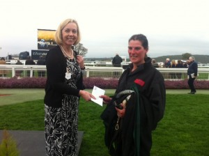 Partner Lesley Gaskell with the Groom for the Best Turned out Horse