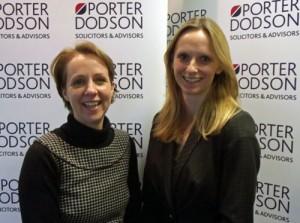 Staff Kate James and Sharon Collier