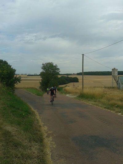 London to Paris first hill of the day