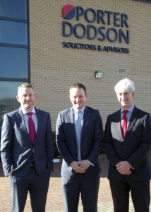 Stephen Wray (Office Head at Taunton office), Ben Hingley and Bruce Weir