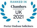 Ranked in Chambers UK 2021 logo