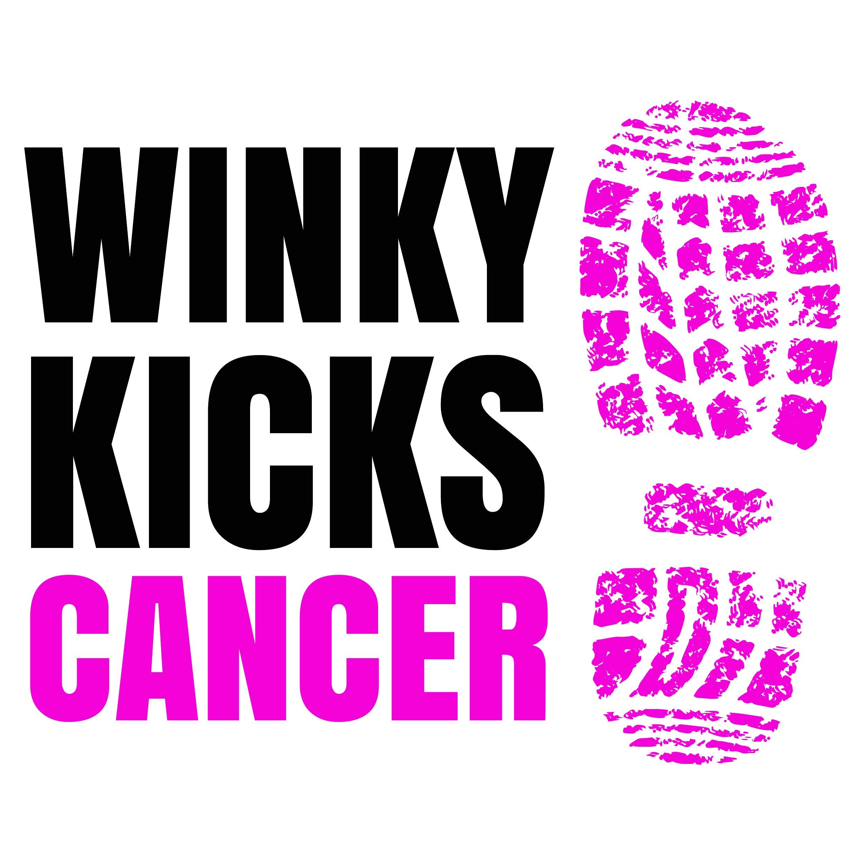 Winky Kicks Cancer LOGO